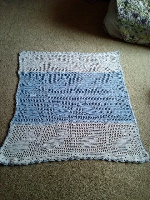 Filet Crochet Baby Blanket Completed Projects Pinterest