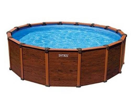 Wood grain above ground pool our outdoor oasis - Wood above ground pool ...