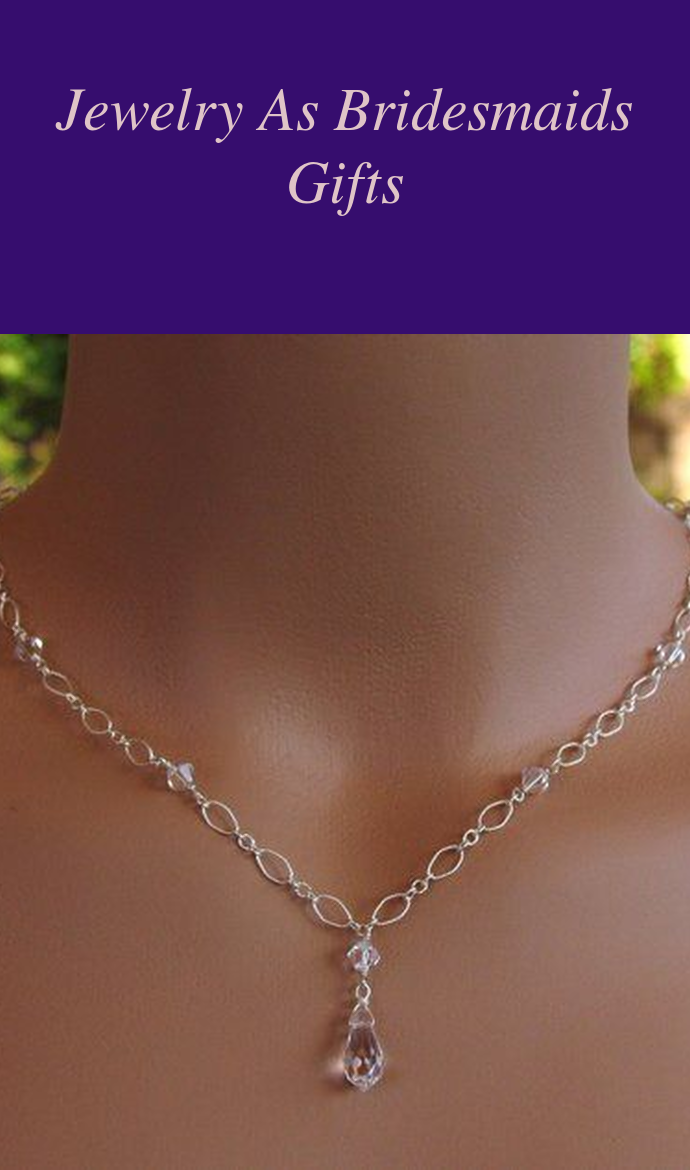 Simple Crystal Necklace for the Maids  Color Wedding Jewelry  Affordable Bridesmaid Gift Idea  Gold Filled Chain