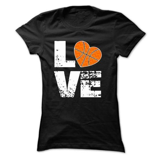 love basketball [basketball mom] T Shirts, Hoodies Sweatshirts. Check price ==► http://store.customtshirts.xyz/go.php?u=https://www.sunfrog.com/Sports/love-basketball-[basketball-mom]-Ladies.html?41382