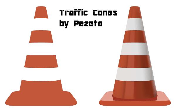 Vector Traffic Cones Illustration Download Free Vector Art Vector Free Vector Free Download Vector