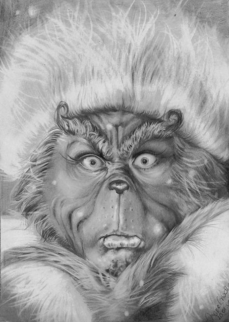 pencil drawing of the Grinch GRINCH StinkStankStunk