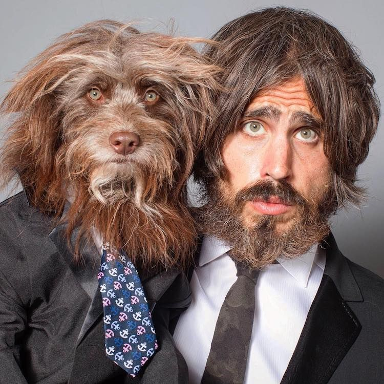 Guy And His Beloved Dog Look Alike So They Dress In Adorable