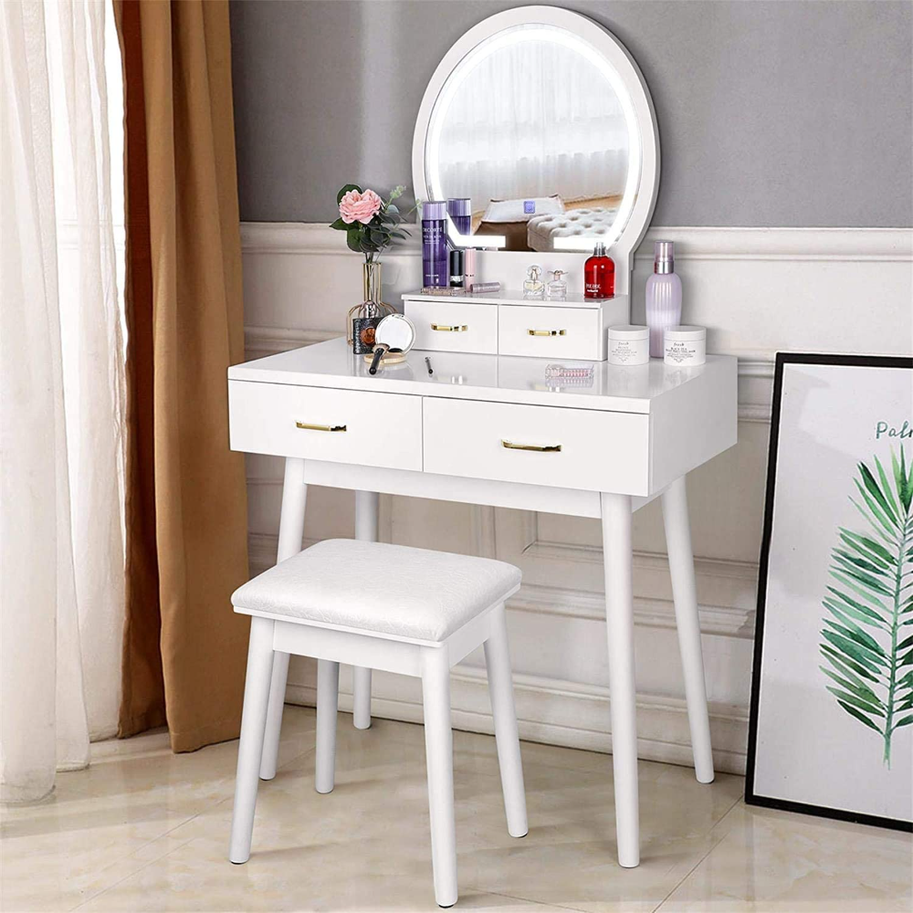 Riforla Lighted Makeup Vanity Mirror Light Makeup Dressing Table Vanity Set Mirrors With Dimmer Dressing Table Vanity Mirror With Lights Beautiful Vanity Table