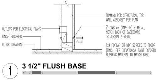 3 Modern Base Details Modern Baseboards Baseboard And