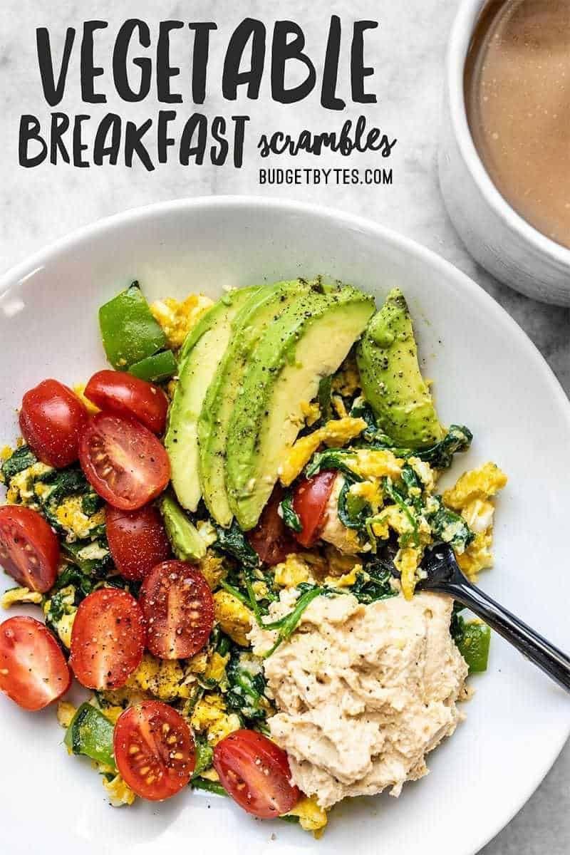 Vegetable Breakfast Scrambles Recipe Breakfast Vegetables Veggie Breakfast Healthy Breakfast Recipes