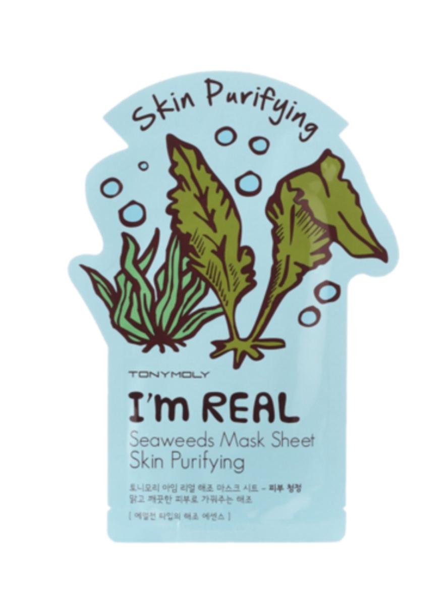 tonymoly i m real sheet masks review part 2 college fashion seaweed mask seaweed face mask purify skin pinterest