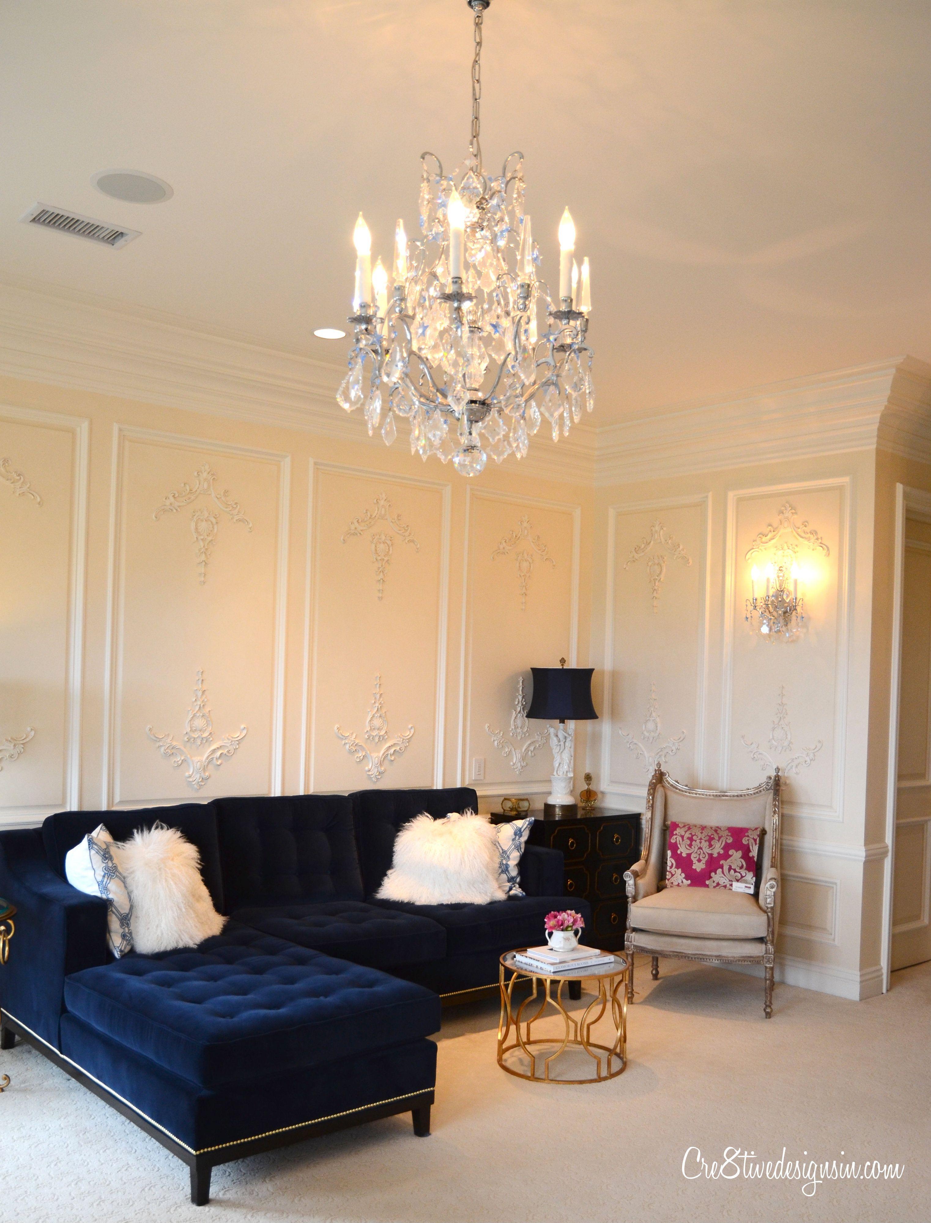 Blue Velvet Sofas With Cream Walls Luxury Living Room Design Luxury Living Room Sofa Design