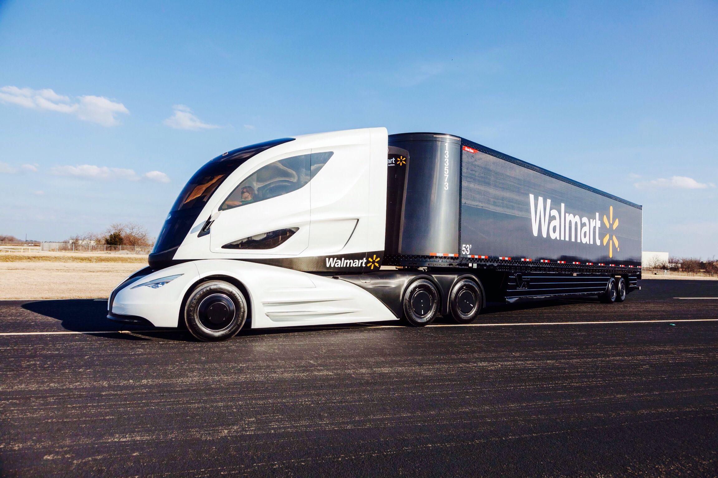 New Walmart Semi Trucks With Images Trucks Fuel Efficient