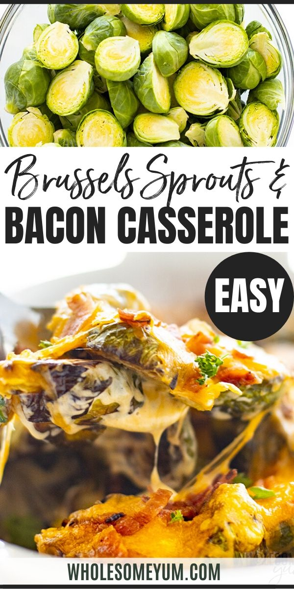 Keto Brussels Sprouts Casserole Recipe With Bacon This