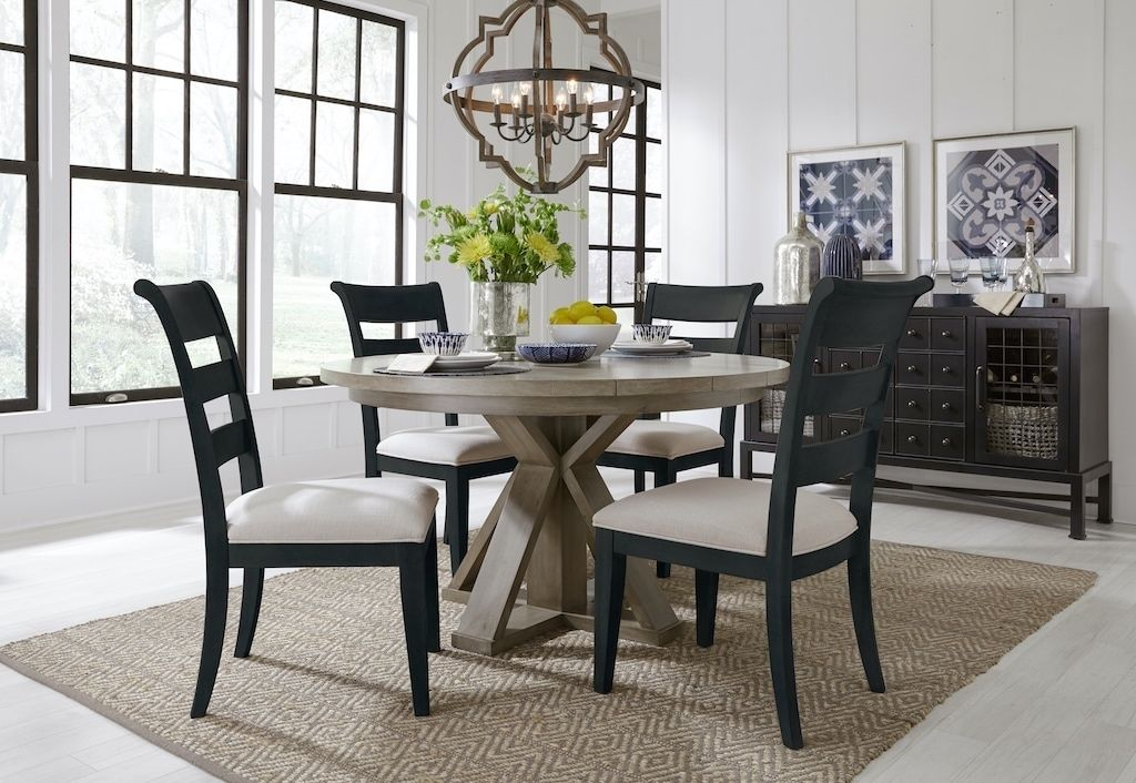 2021 dining room with round table indigo chairs in 2020 on 2021 paint colors living room id=33494