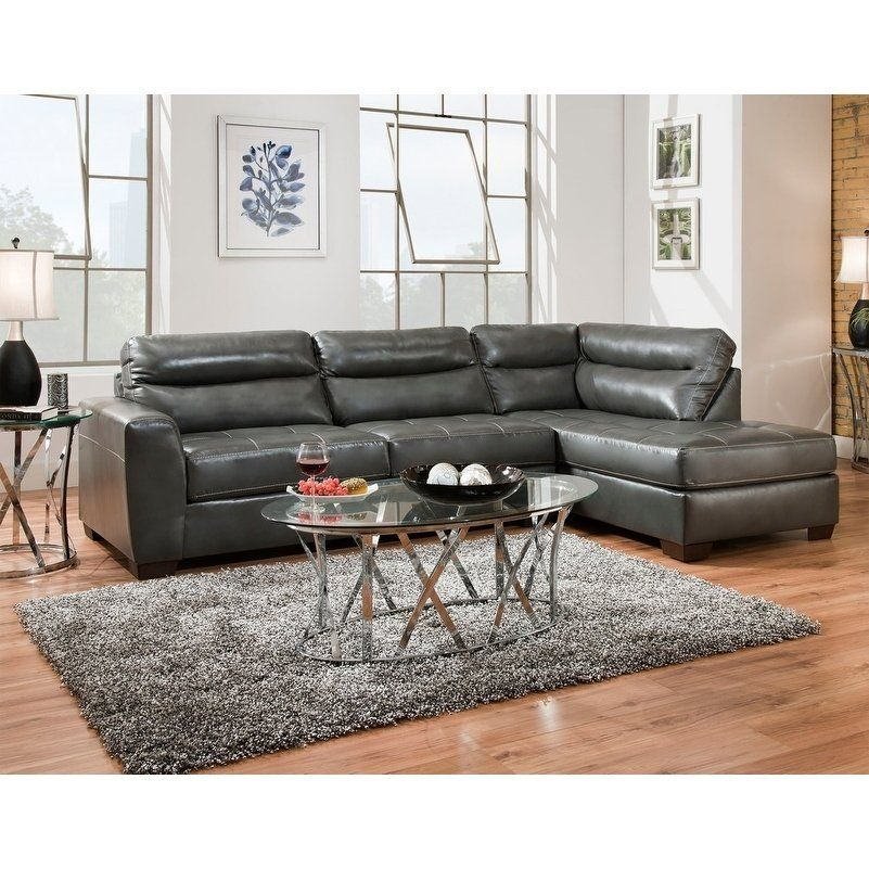 Peachy Simmons Upholstery Northwood Sectional Sofa Grey Faux Gamerscity Chair Design For Home Gamerscityorg
