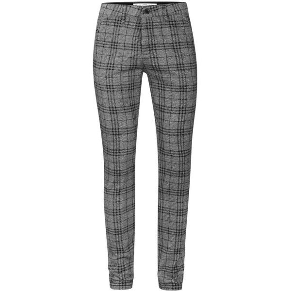 Topman Grey Check Stretch Skinny Chinos 35 Liked On Polyvore Featuring Men S Fashion Clothing Pants Casual