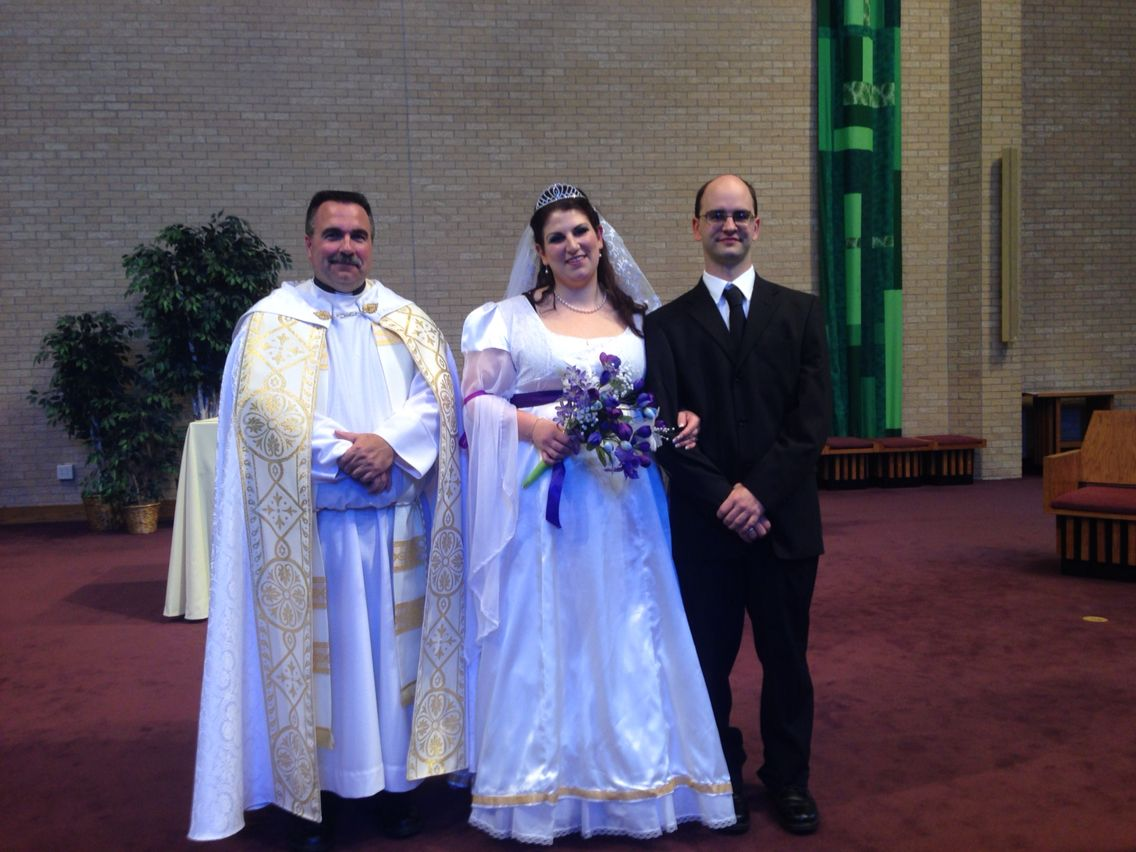 dustin williams and farin hellenbrand married at st michael and monica batisis hartsfield married 2014 st maria goretti church madison wi