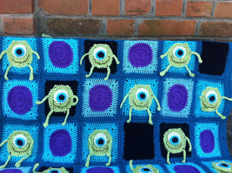 Mr Mike Wazowski Crochet Blanket Patternafghan Patternmonsters