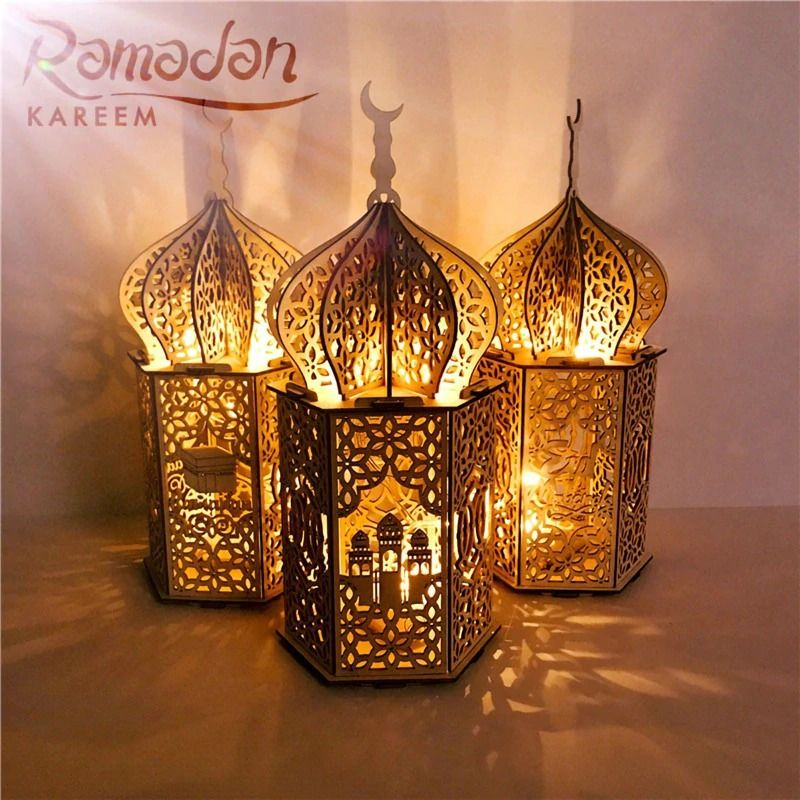 رمضان كريم In 2021 Diy Lantern Lights Led Night Light Lantern Lights