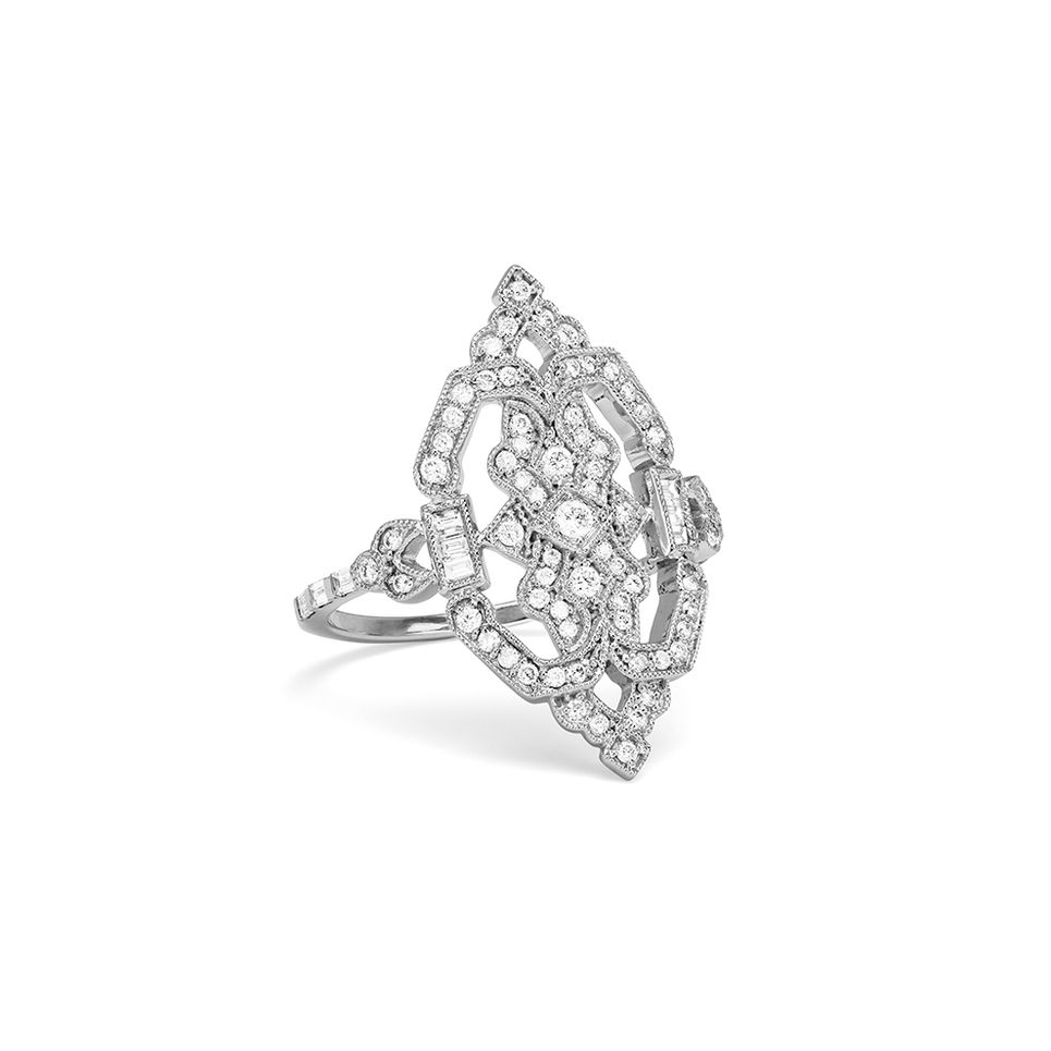 Stone Paris - Garbo bague or blanc et diamants