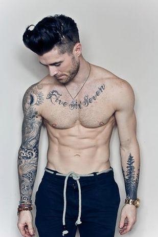 Tattoo sleeves sexy man