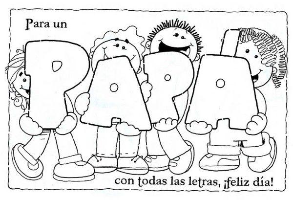 Dibujos Para Colorear Para El Dia Del Padre Colectivo Ideas