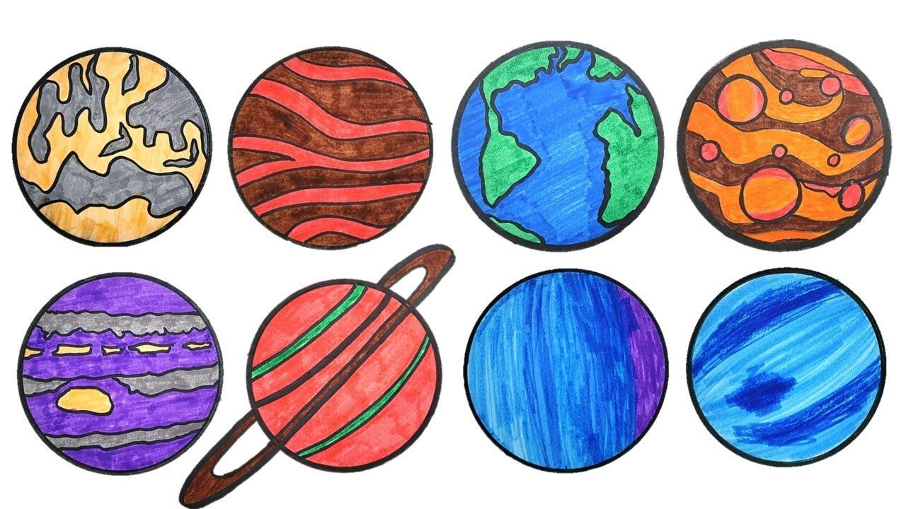 Solar System Drawing For Children And Kids Teach About Planets