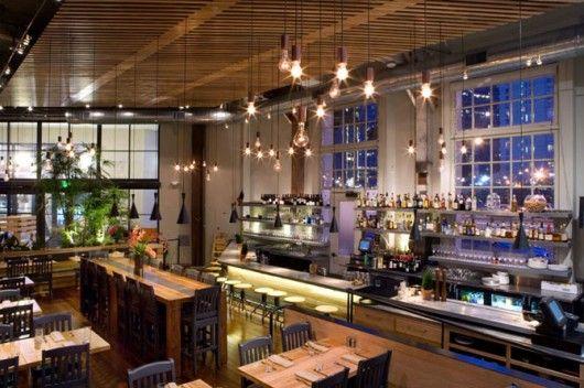 Plant Café organic restaurant - minimalist style