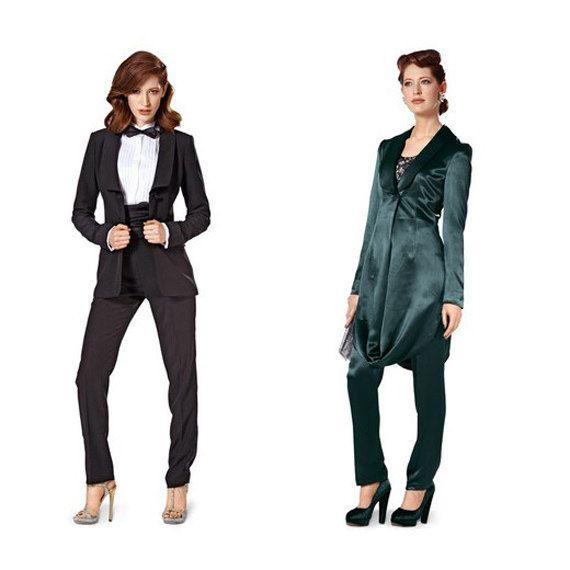 Tuxedo Pant Suit Womens