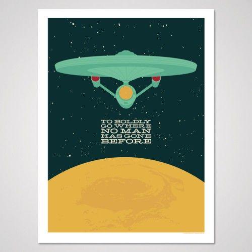 Star Trek Inspired Art Print To Boldly Go