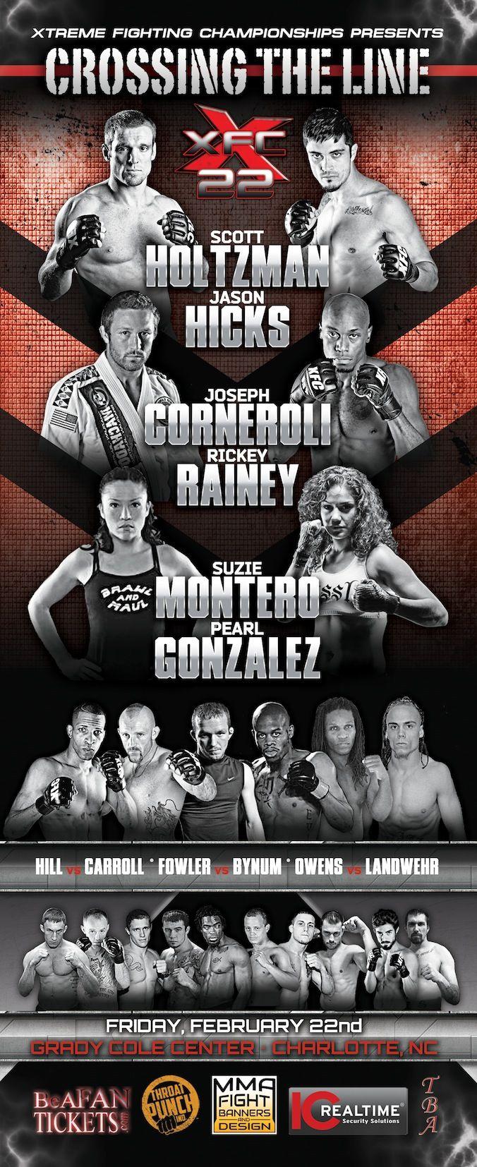 XFC 22 Event Program MMA GraphicDesign Event program