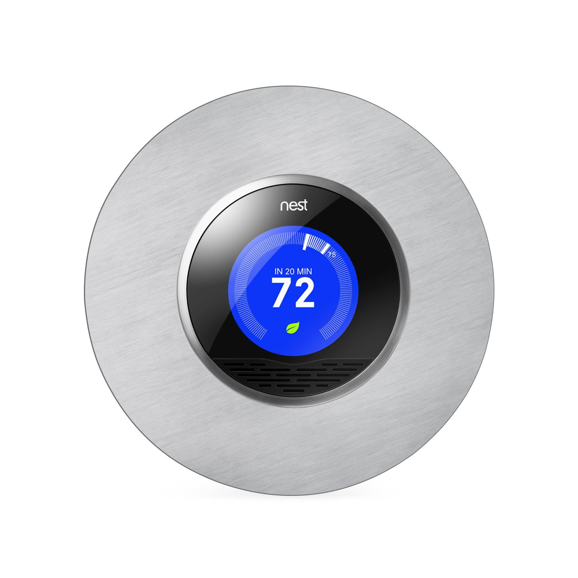 Beautiful Round 6 Wall Plate Cover For All 2nd And 3rd Generation Nest Thermostat By Wasserstein Stainless Steel In 2020 Wall Plate Cover Nest Thermostat Thermostat Cover