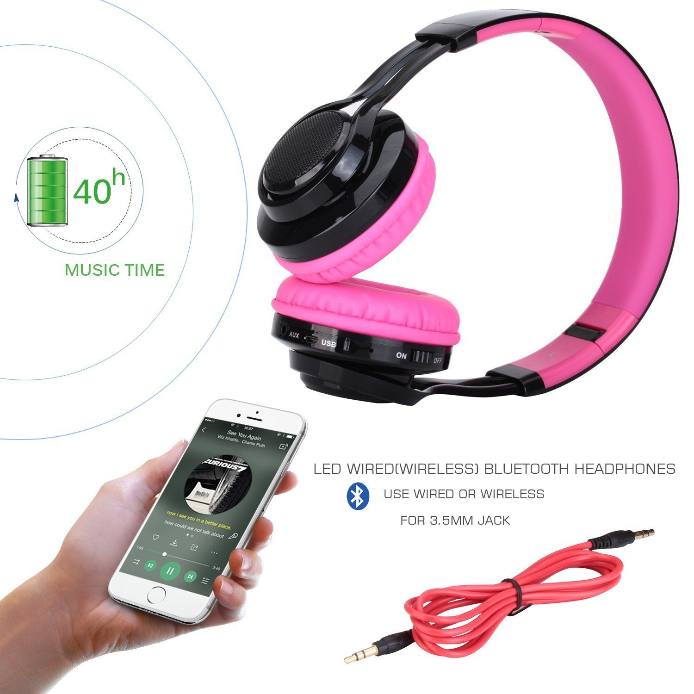 Amazon Com Bluetooth Headset Riwbox Ab005 Wireless Headphones 4 0 With Microphone Foldable Headphones With Tf Bluetooth Headset Wireless Headphones Bluetooth