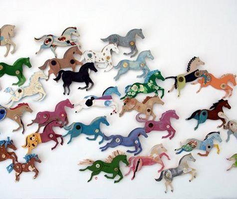 DIY Cardboard horses by Ann Wood