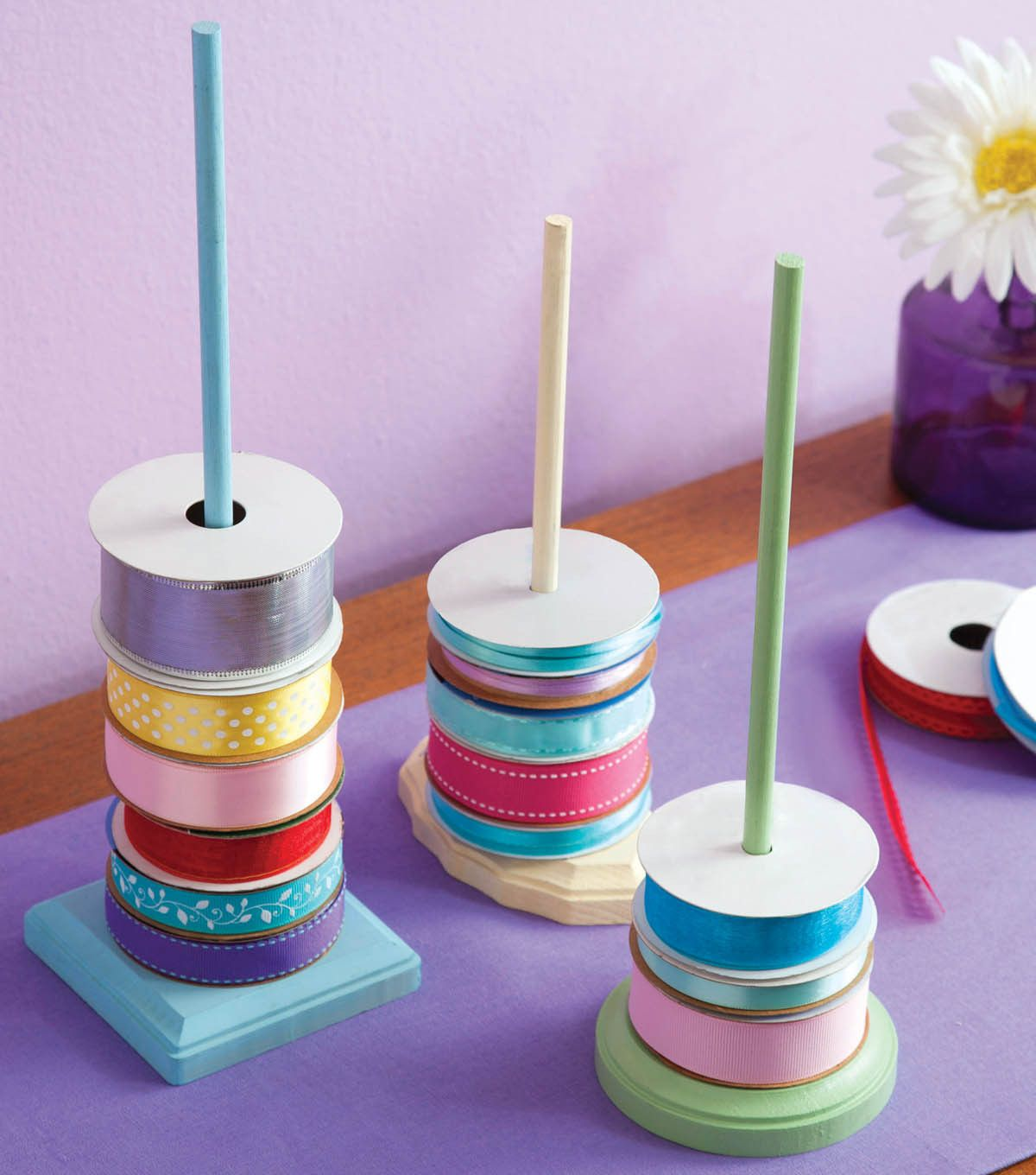 Diy Storage Solution Ribbon Storage Rods Directions Available