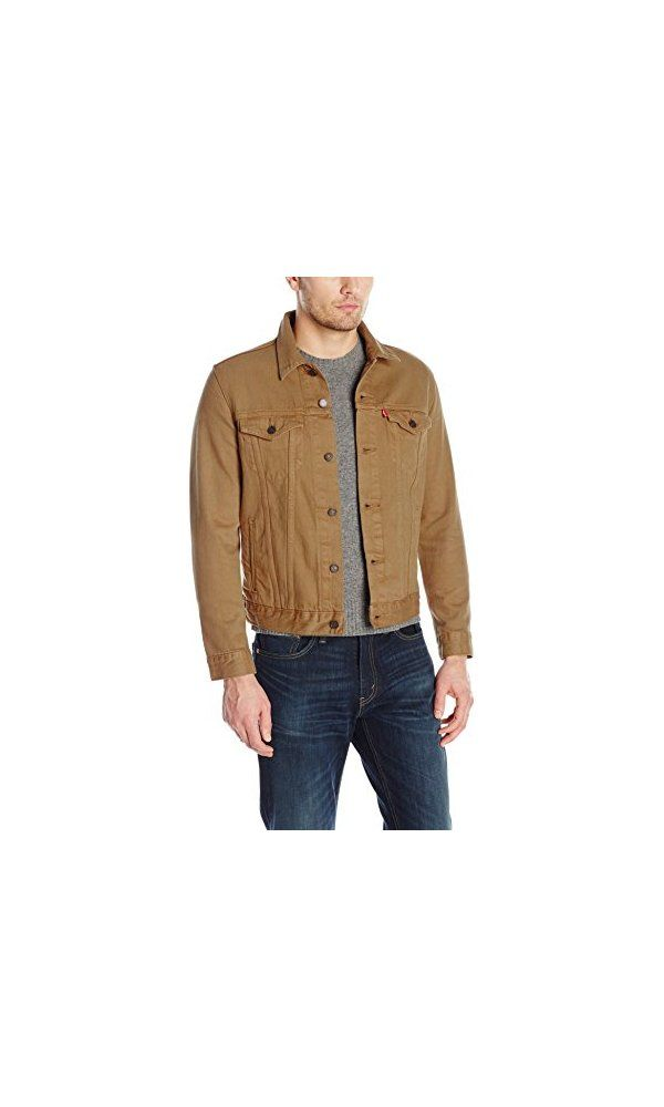 aa70ecea73c619 89.5  - Levi s Men s the Trucker Jacket- Caraway Garment Dye- S from Levi  s- The original jean jacket since 1962- this trucker is fit for anything.