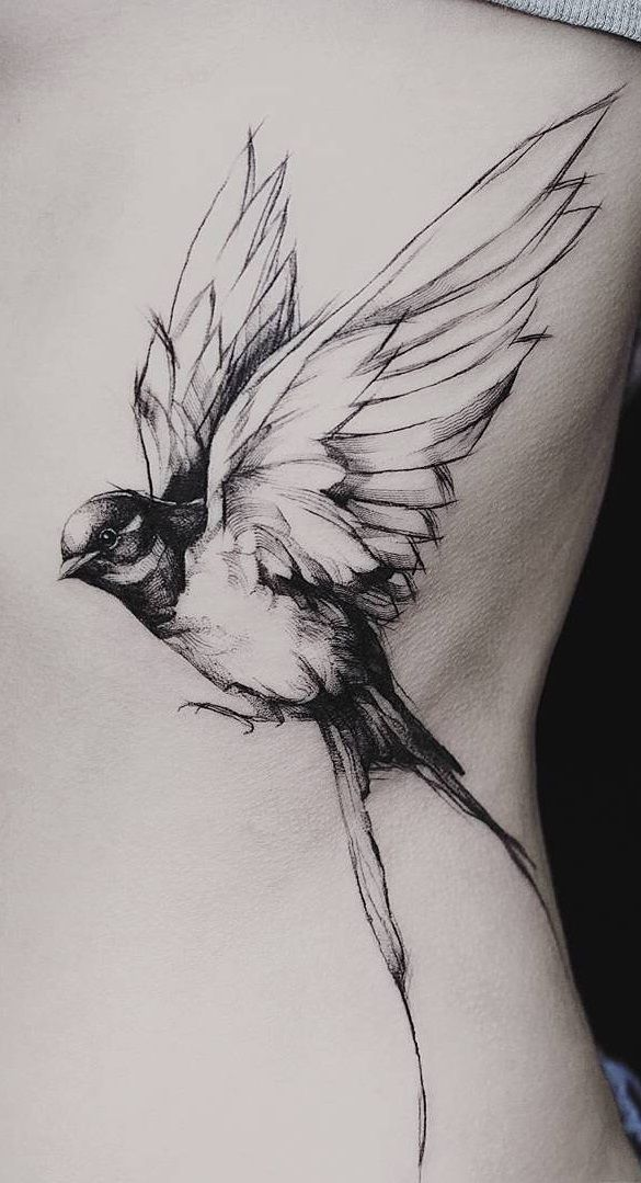 90 vrouwelijke tatoeages op rib - Foto's en Tattoos
