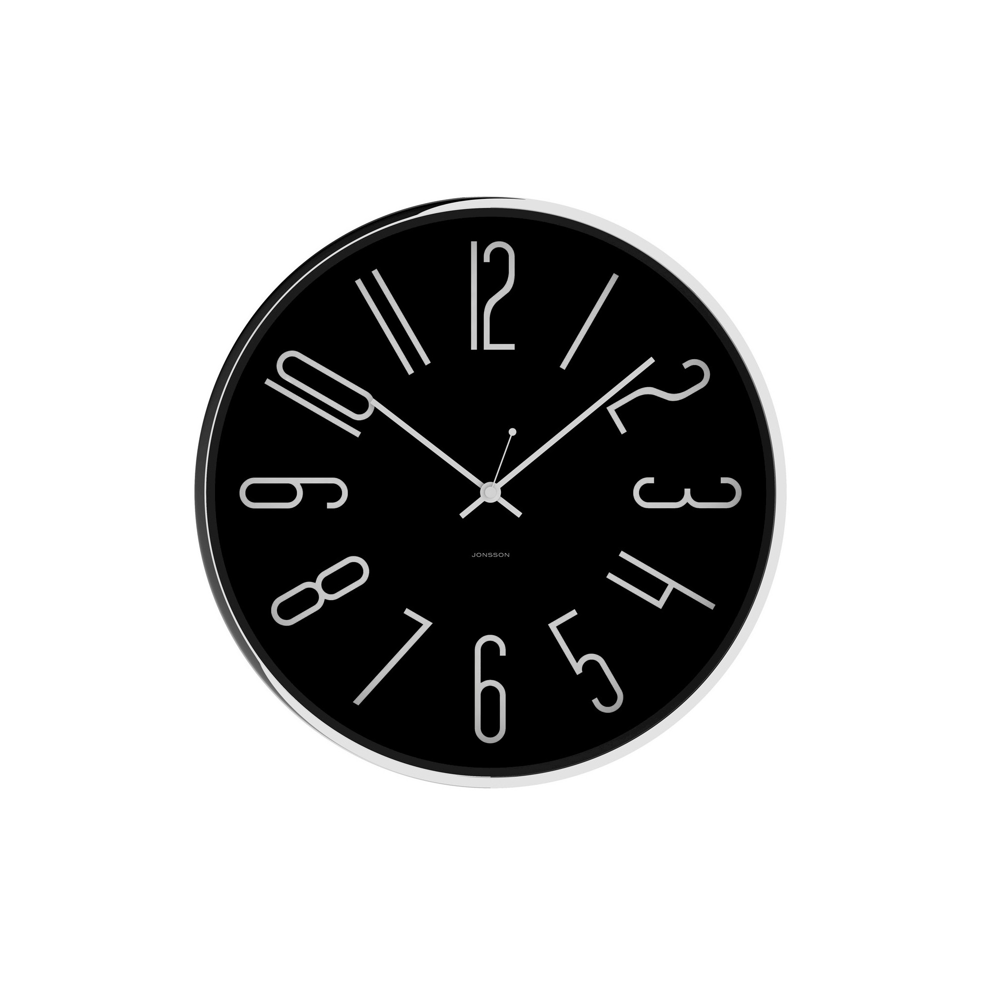 Chrome 12 Round Wall Clock Black Jonsson Timeware Wall Clock Clock Round Wall Clocks