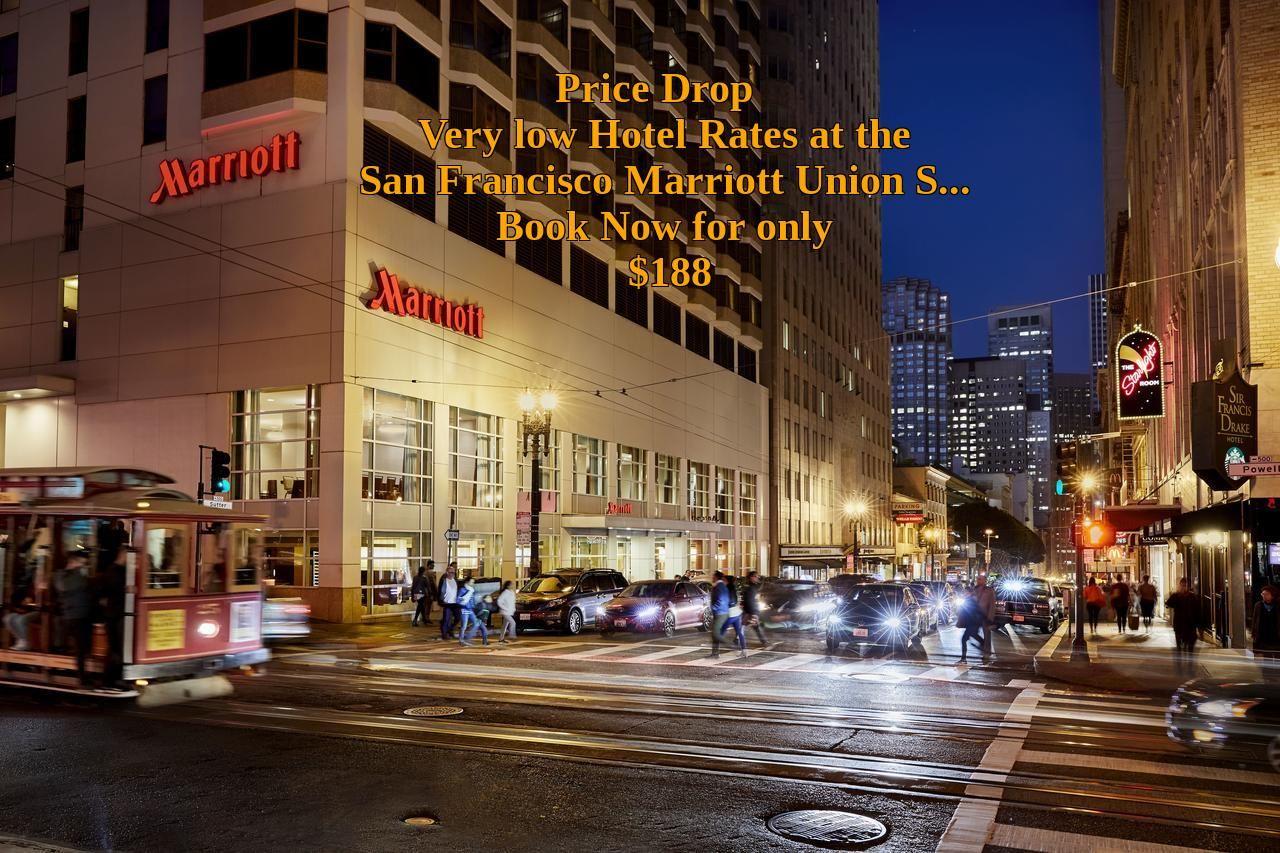 San Francisco Marriott Union Square San Francisco Usa Deal Just 188 Per Night Union Square San Francisco San Francisco Hotel San Francisco Attractions