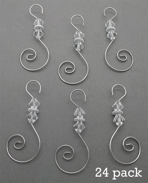 Diamond Pack Of 24 Swirled Beaded Christmas Ornament Hooks Christmas Ornaments Beaded Christmas Ornaments Wire Ornaments