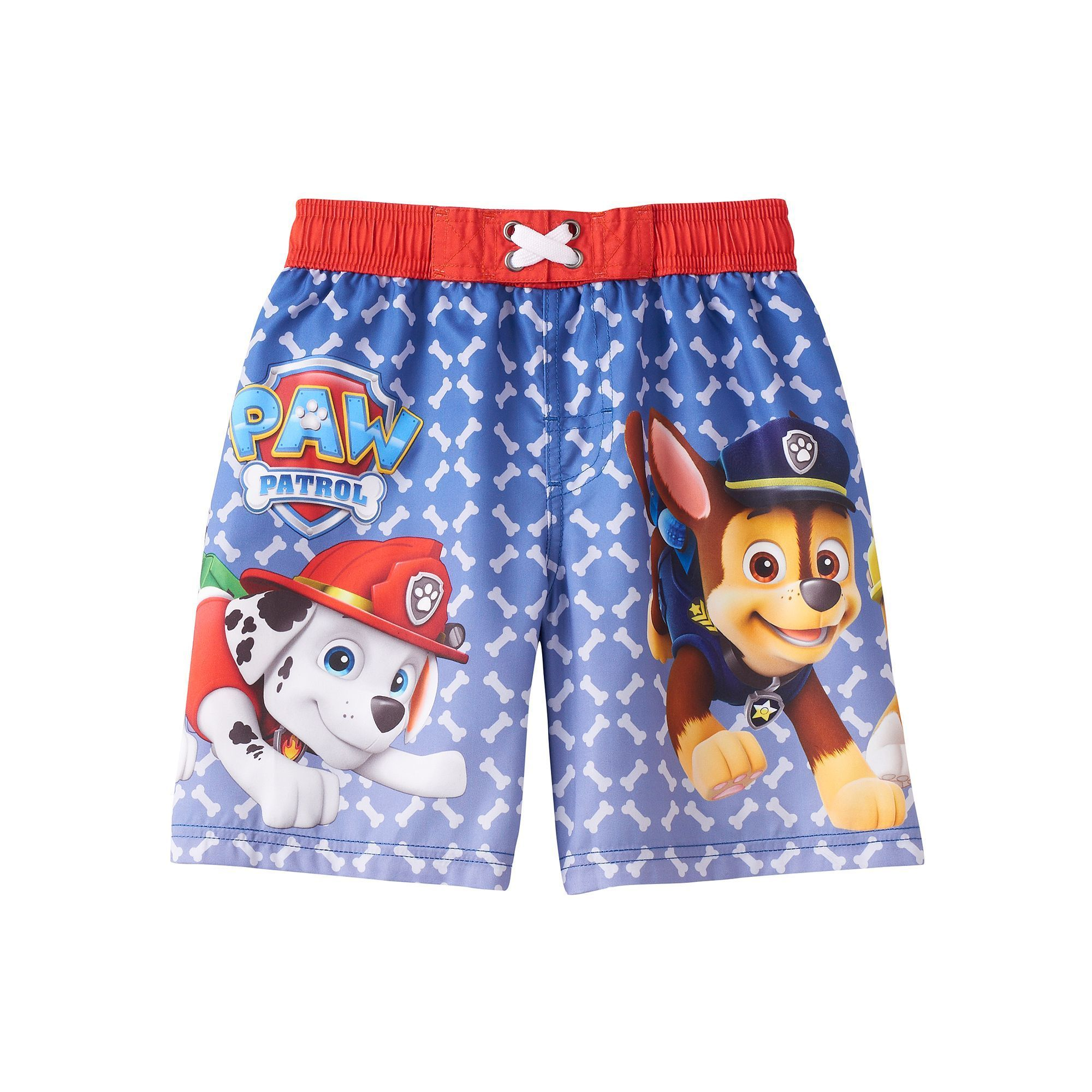 efdf4a1bf4ff5 Boys 4-7 Paw Patrol Marshall, Chase & Rubble Swim Trunks, Boy's, Size: 5,  Red