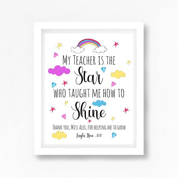 Personalised Teacher Gift, Teacher Gift, Thank You Teacher