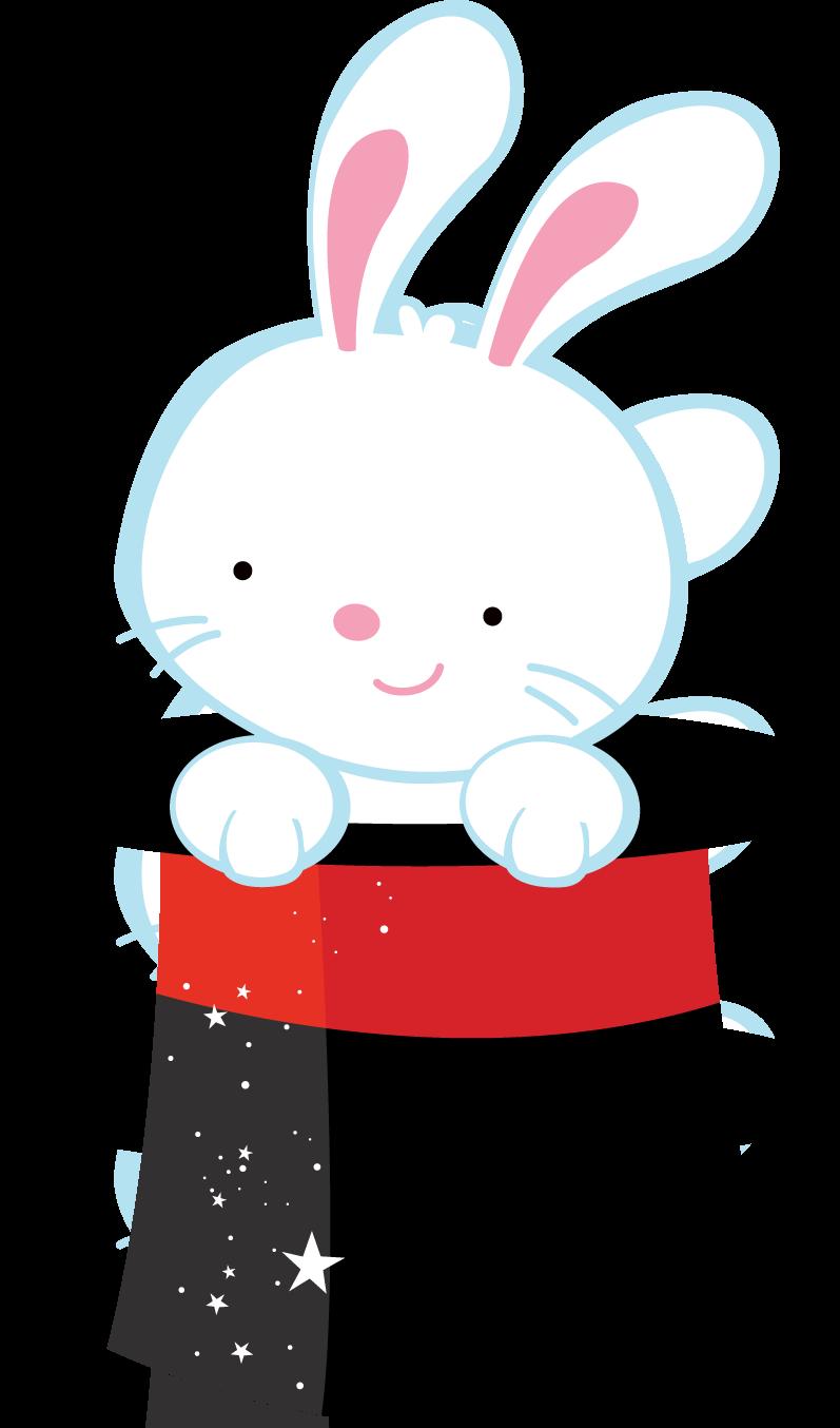 rabbit in hat clip art
