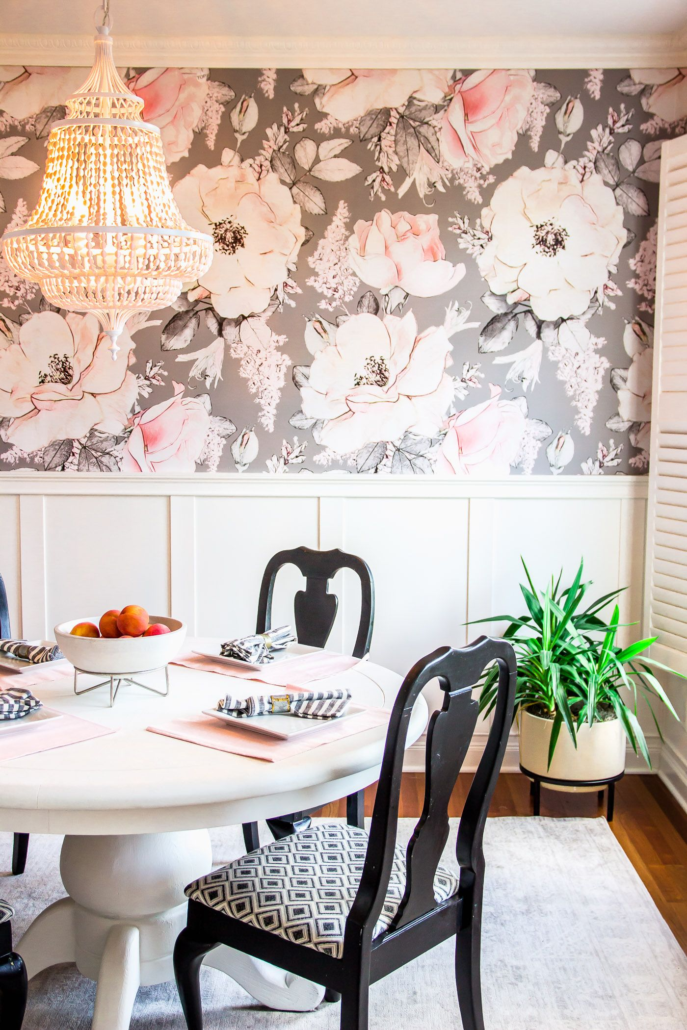 How I Installed Wallpaper By Myself Shining On Design Dining Room Wallpaper Interior Decorating Dining Room Home Wallpaper