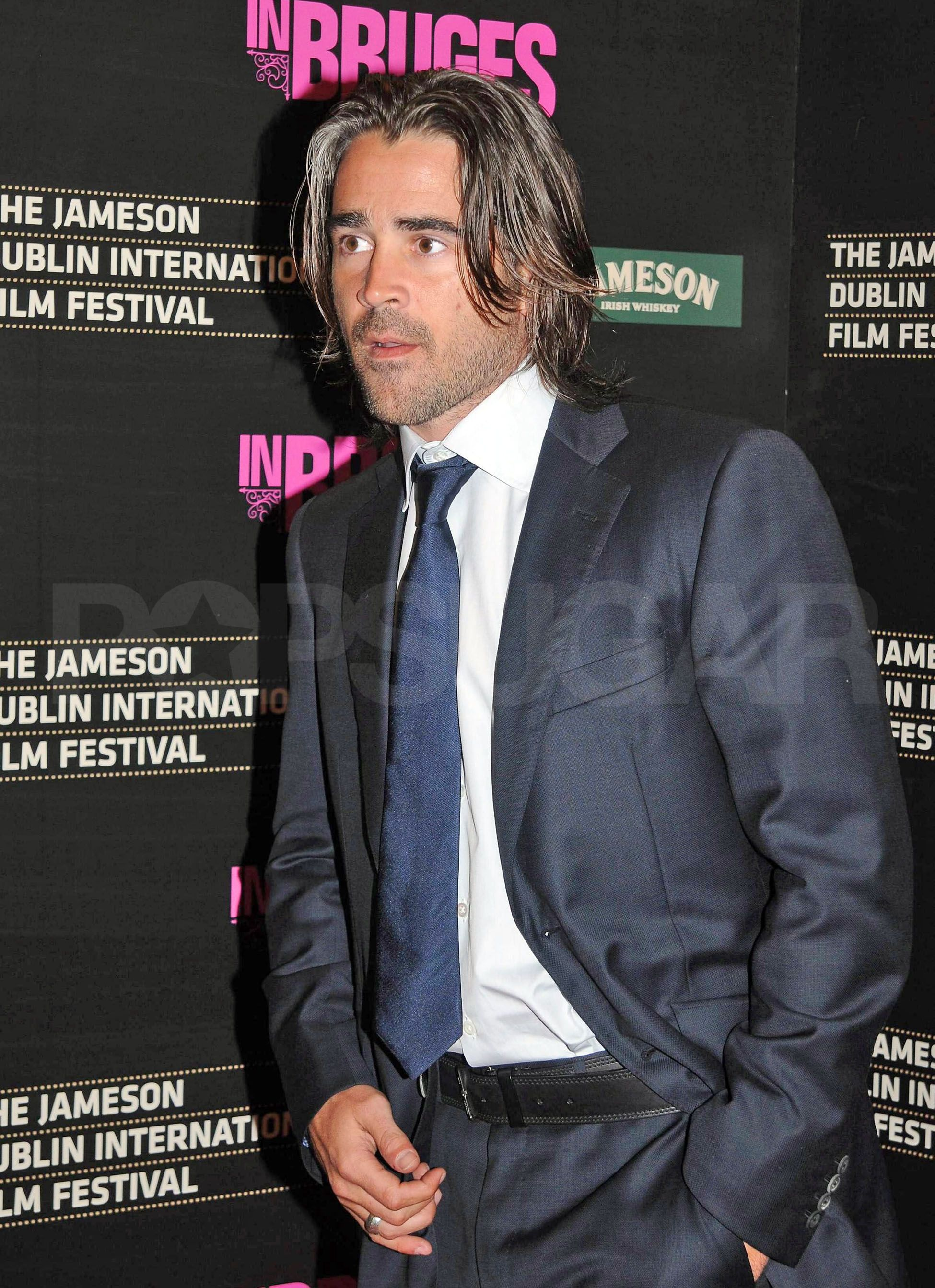 Mens haircut dublin colin farrell premieres in bruges and helps heath  colin farrell