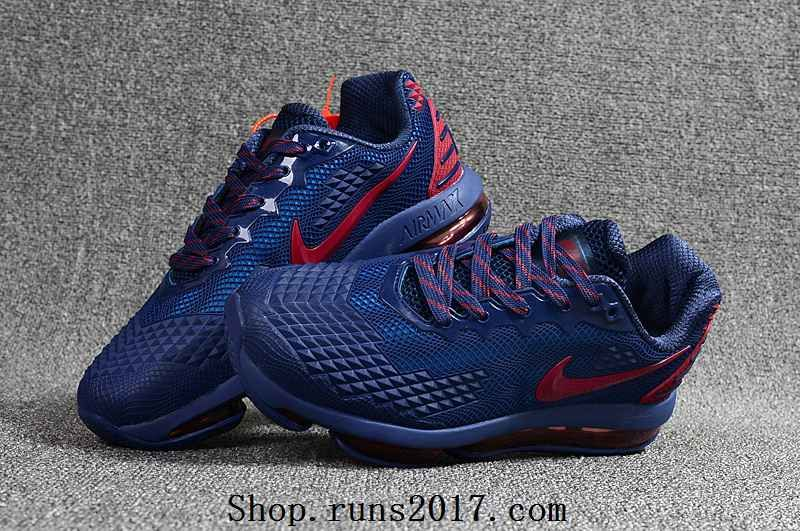 NIKE Air MAX 2019 KPU Navy Blue Red Men Sneakers Running