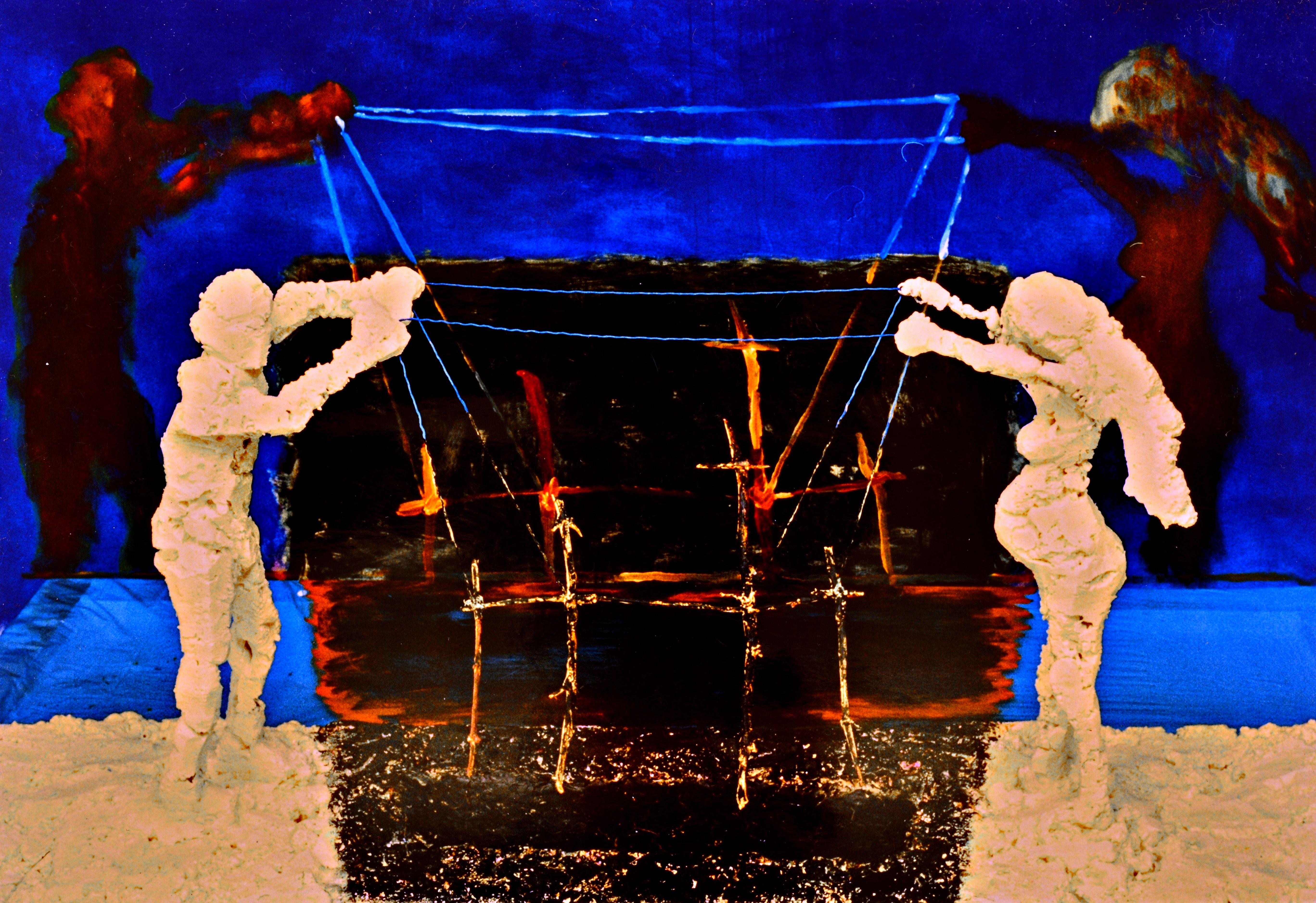 "Yury Ermolenko, work on the movie ""13.ICONOSTASIS"", Rapan Studio, 2003, Krakow, Poland ( ""13.ICONOSTASIS"" project by YuryErmolenko, 2004, L-Art Gallery, Kiev, Ukraine ) #YuryErmolenko #Ermolenko #Ермоленко #юрийермоленко #ЮрийЕрмоленко #живопись #ермоленко #yuryermolenko #выставка #picture #creative #fineart #contemporaryart #modernart #impressive #expressive #texture #RapanStudio #picture #colorful #metaphysics #metaphysical #picture #painting #art #современноеискусство #exhibition #oil"