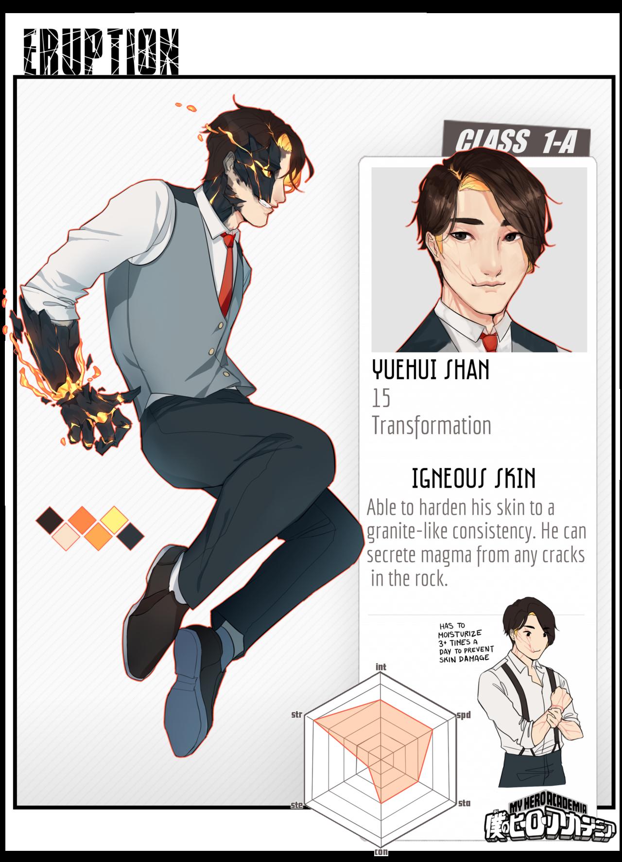 Bnha Pro Yuehui The Volcano Boy By Cymurri Hero Academia Characters Hero Hero Costumes
