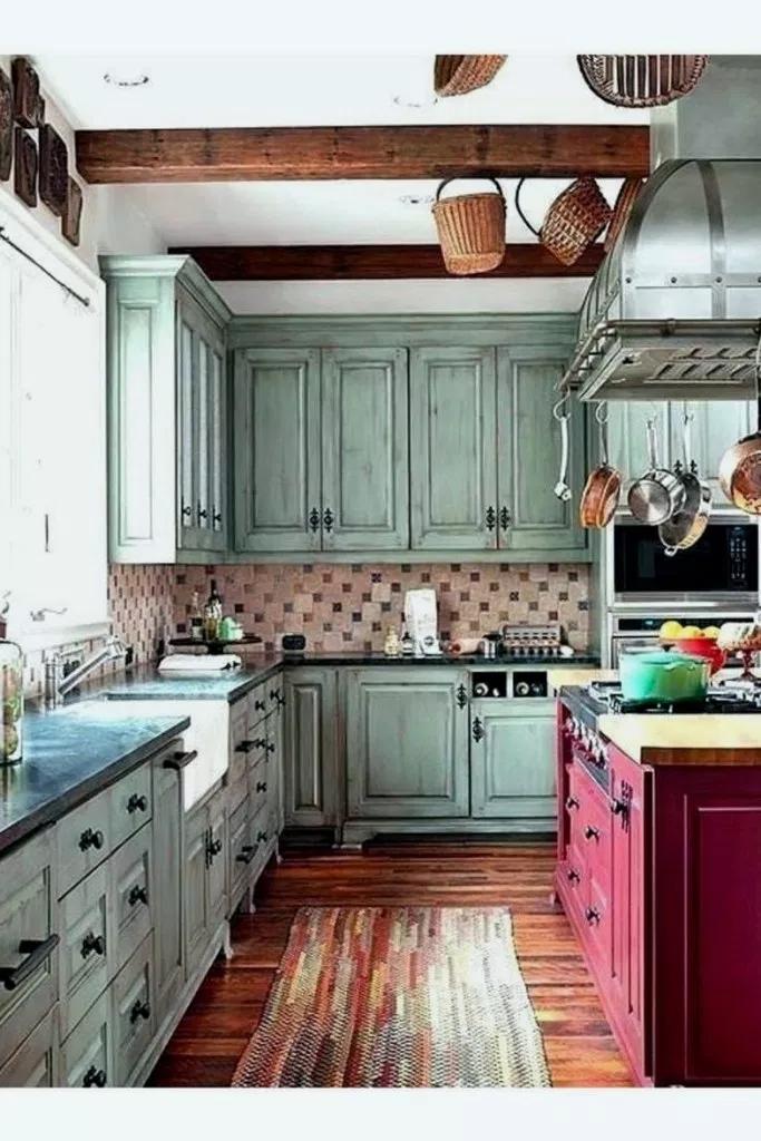 33+ Farmhouse Blues Kitchen #farmhousekitchen # ...