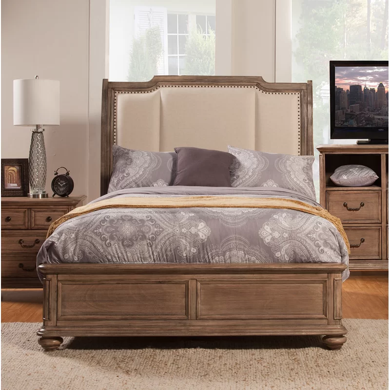 Joutel Upholstered Standard Bed & Reviews Joss & Main