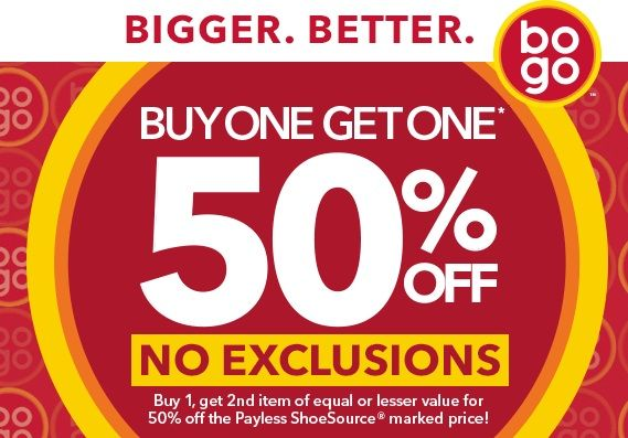 Payless's BOGO sales promotion ad was
