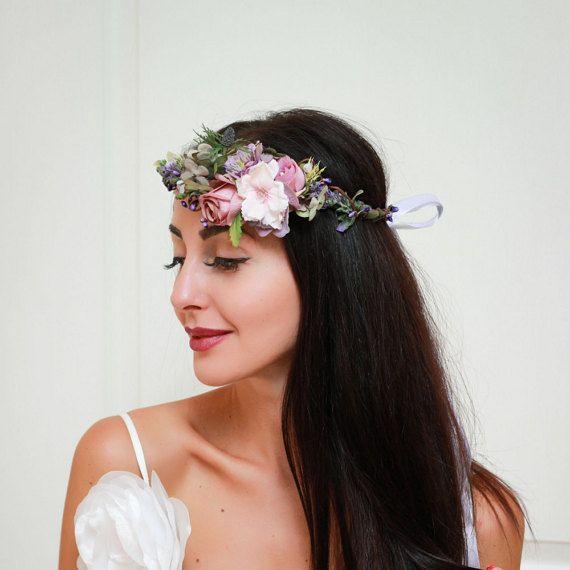 Ready to ship Lavender flower crown Flower halo by ByKochetova