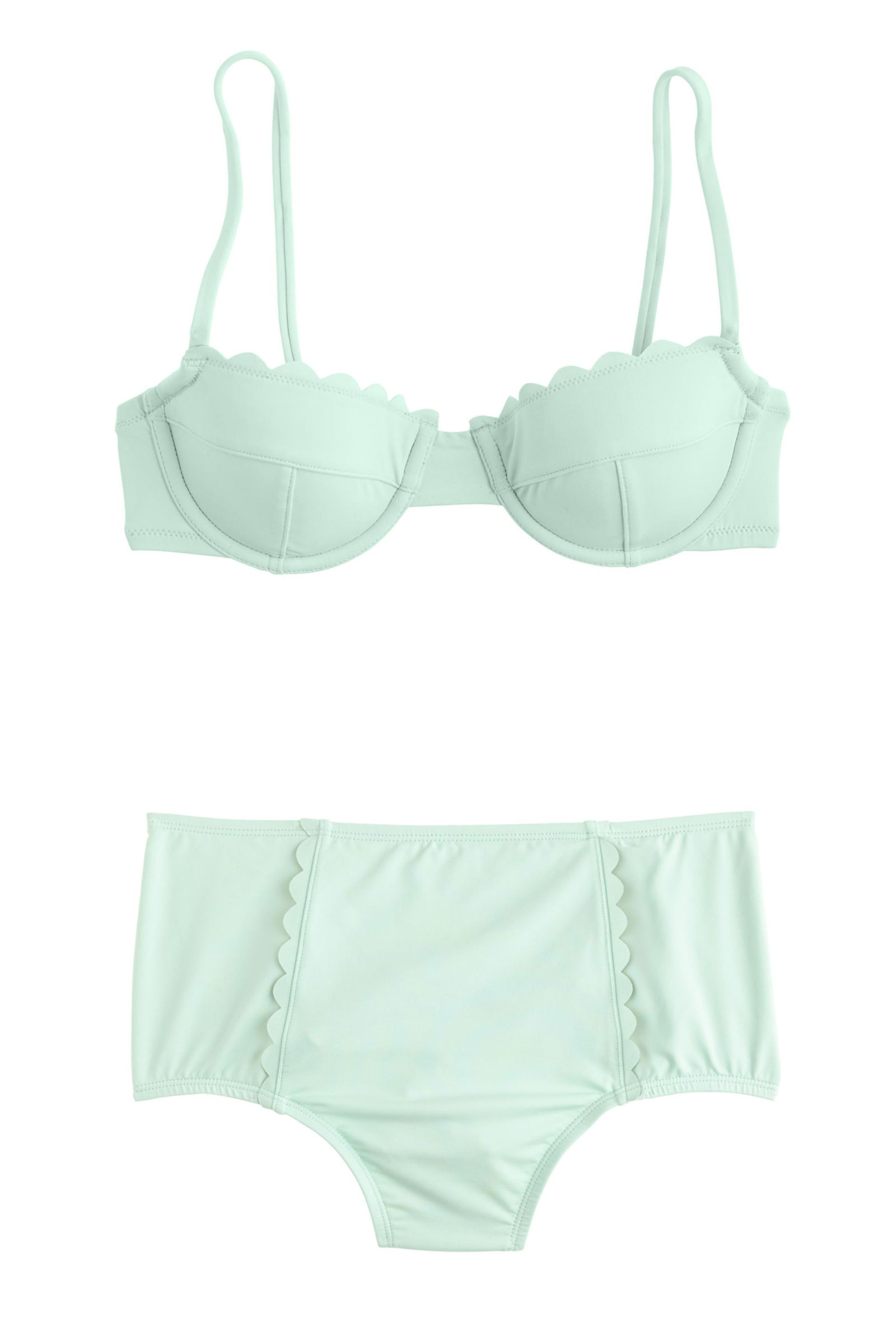 977406fb1f ... Because You're Probably Ready for a Vacation. J.Crew Scalloped  Underwire Bikini Top, $78; jcrew.com J.Crew Scalloped High-Waist Bikini  Brief, $68; ...